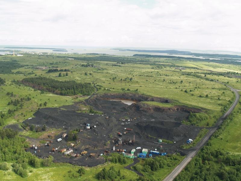 Egy sungit bánya, Karéliában