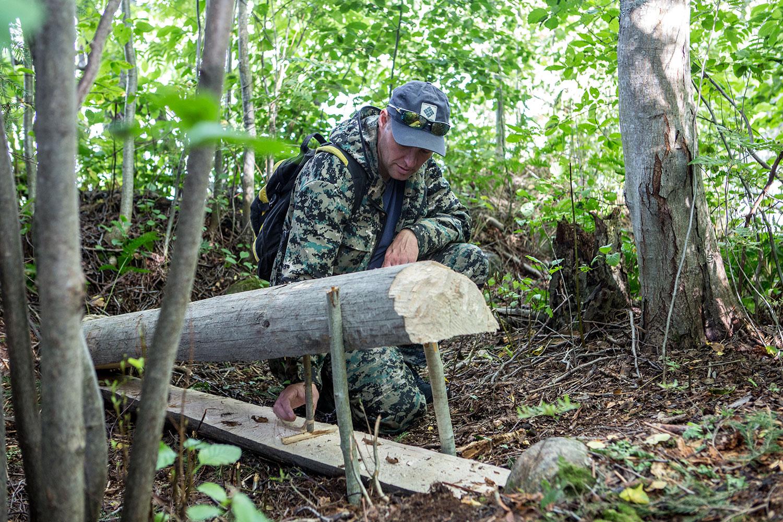 Как сделать своими руками капкан на медведя
